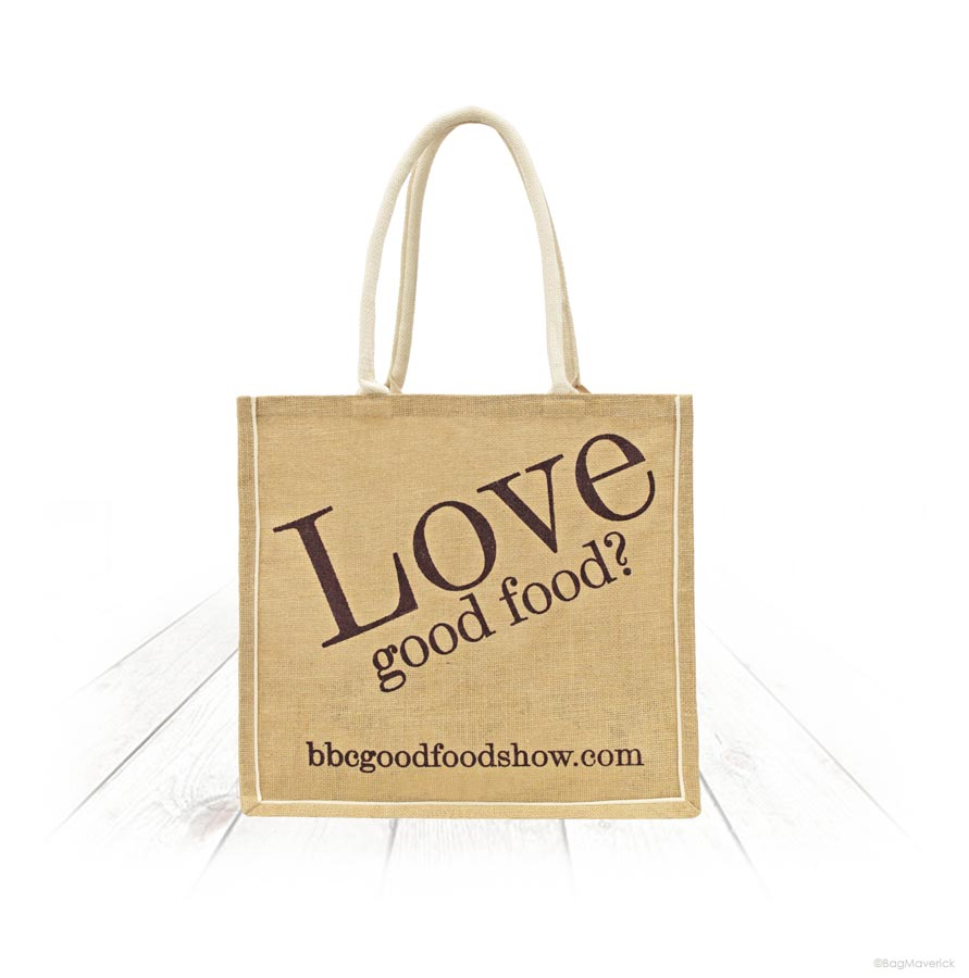 Jute Bag with Cotton Piping