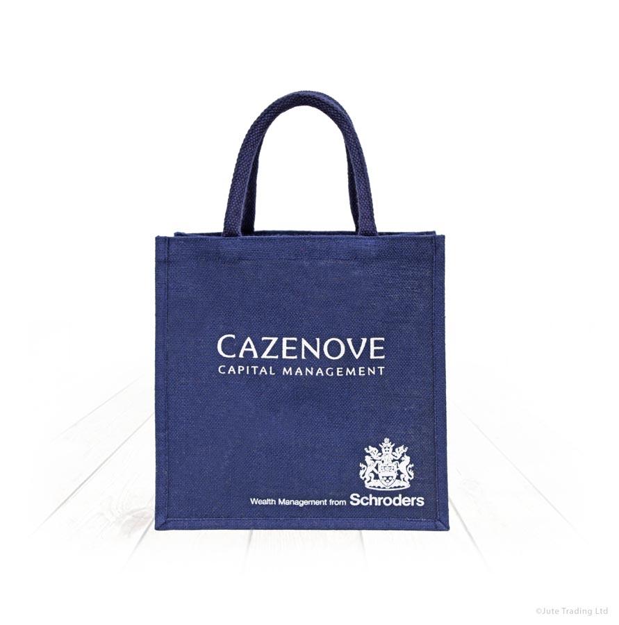 Navy Jute Bag