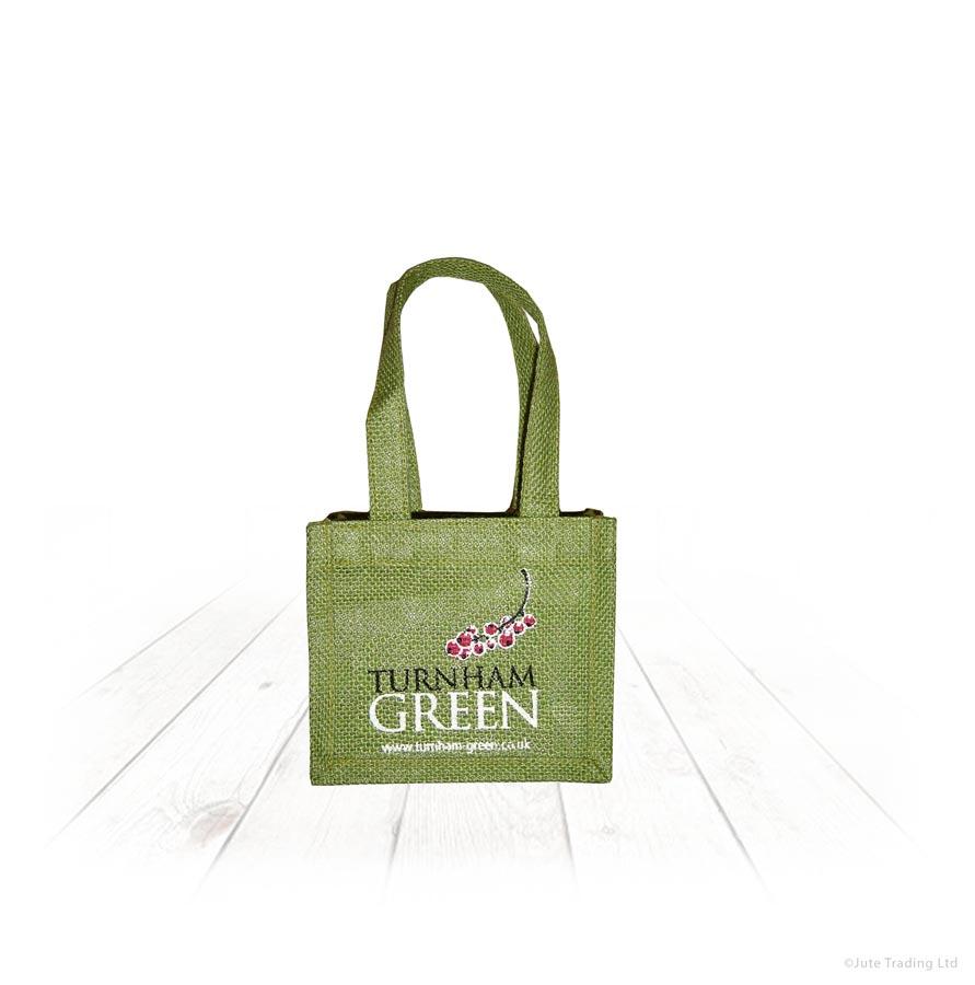 Small Green Jute Bag