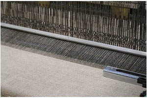 Weaving jute fabric